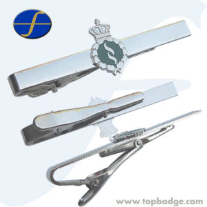Hot Sale Custom Made Silver Tie Clip for Man (FTTB2611A) pictures & photos