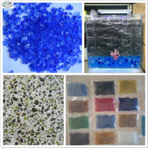 China Epoxy Flooring Crushed Colored Glass Chip Bead For