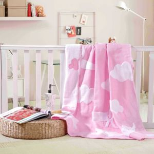 Pure Cotton 21s Untwisted Yarn Soft Gauze Baby Blanket
