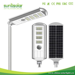 5 Years Warranty Integrated Solar LED Street Light, LED Solar Street Light 40W Ce, RoHS Approved IP67