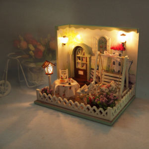 Kids DIY Cute Room Wooden Miniature Bedroom Doll House Furniture Toy Girls  Toy Gift Dollhouse -Youth Story Doll House Furniture