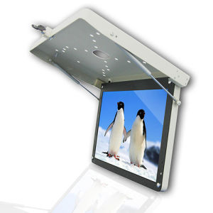 "19"" Roof Mounted Flip Down LED Monitor with USB FM Transmitter"