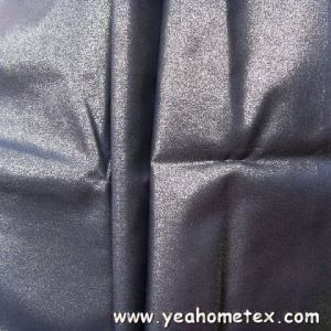 Poly Pongee with Gold Stamping Finish for Fashion Garment