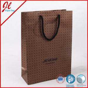 Black Promotional Jewelry Shopping Paper Bags with Logo and Printing pictures & photos