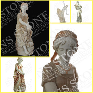 Four Seasons Maidens in White Carrara Marble Ms-069 pictures & photos