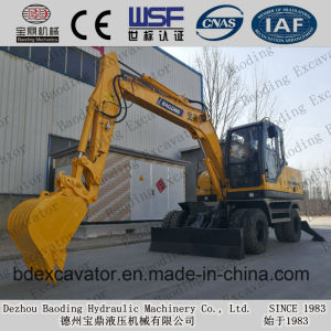 High Performance Baoding Bd80-8 Wheeled Excavators with Reasonable Prices pictures & photos