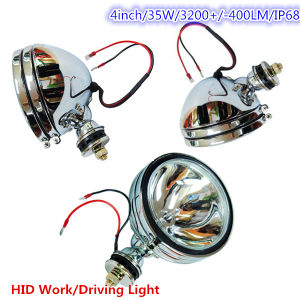 "Silver 35W 55W 5"" HID Offroad Work Light, Driving Light H3 Spot Beam HID Hot Selling Silver Style IP68 pictures & photos"
