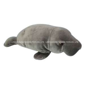 "17"" Grey Simulation Manatee Plush Toys"
