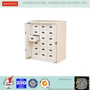 Laboratory Furniture with File-Proof 18 Drawers and 2 Retractable Doors Cabinet