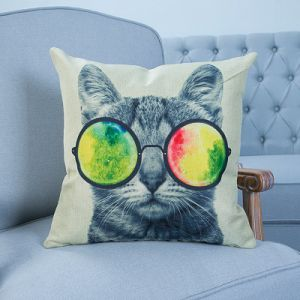 Digital Print Decorative Cushion/Pillow with Cat&Dog Pattern (MX-12) pictures & photos
