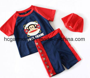 Kids Boy Swimming Suit. Monkey Printed Jumpsuit Swimming Wear