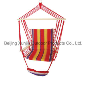 with Foot Pad Stripe Quilted Hanging Chair