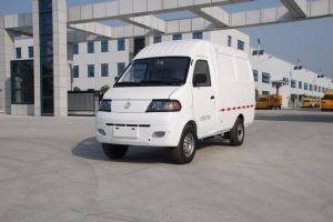 Electric Cargo Van with Single Cab