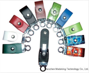 Best USB Flash Drive Promotional Gift Flash Memory Hot Custom Logo Leather USB Stick pictures & photos