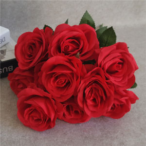 Artificial Red Roses Flowers for Wedding and Home Decoration