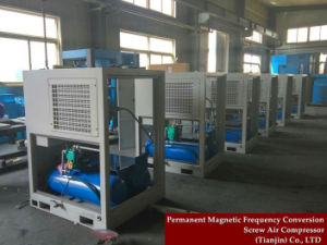 Electric Screw Air Compressor with Air Tank pictures & photos