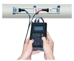 Battery Powered High Quality Handheld Flow Meter with SD Card to Save Data