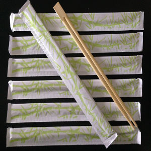 Bamboo Chopsticks with Full Paper Cover pictures & photos