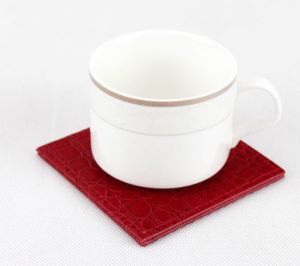 Customize Leather Cup Mat in Cheap Price+ Factory Price (C43)