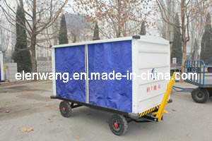 Airport Equippment Trailer Baggage Trolley Cart with Canopy pictures & photos