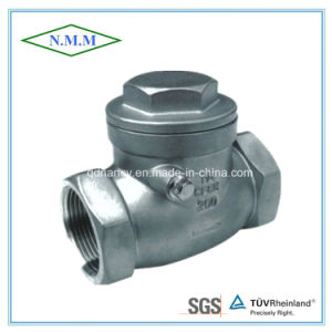 Stainless Steel Screw End Swing Disc Check Valve with Thread End pictures & photos