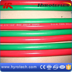 Green Oxygen Hose and Red Acetylene Hose of Twin Welding Hose pictures & photos