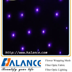 Optic Fiber Star Cloth for Wedding Background Decoration
