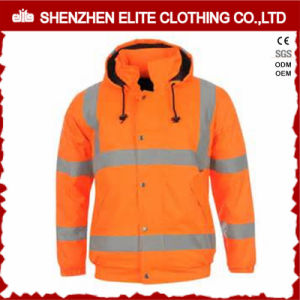 Protective Orange Safety Reflective Jacket with Hoody (ELTSJI-17) pictures & photos