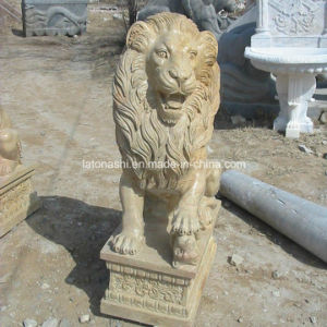 Granite Stone Animal Statue Lion Carving Sculpture for Garden pictures & photos