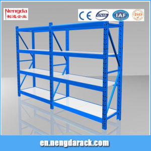 Light Duty Rack Angel Steel Shelves with 5 Sections pictures & photos