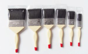 Wooden Handle Paint Brush 730 with Black Bristle