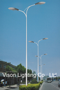 Double Arms Street Lighting Pole LED Lamp