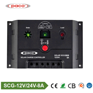 Paco Scg 0808 Solar Charge Controller PWM 8AMP