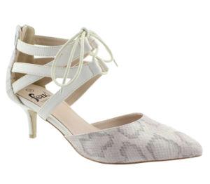 China Ladies White Stiletto Smart Heel