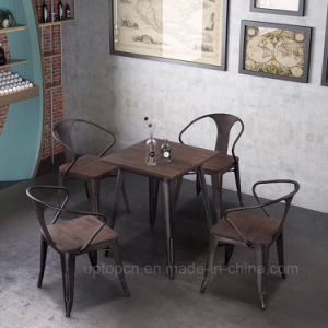 industrial restaurant furniture. (SP-CS857) Industrial Rust Color Restaurant Metal Table And Chair Furniture U