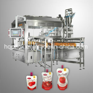 Tomato Sauce Ketchup Filling and Capping Machine for Soft Spout Packaging