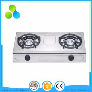 Two Bass Burners LGP Stove with Stainless Steel Stove Top