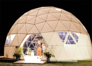 High Quality New Design Dia. 20m Big Steel Frame Geodesic Dome Tent Event Tent pictures & photos