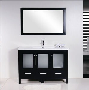 Soft Close Slide Black Matt Bathroom Cabinet