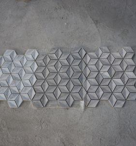 Wholesale 3D Rhomboid Marble Hexagon Stone Mosaic for Floor Tile & China Wholesale 3D Rhomboid Marble Hexagon Stone Mosaic for Floor ...