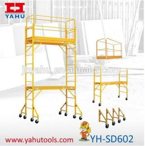 Mulitfunction Adjustable Mobile Alumunum Construction Scaffold Scaffolding (YH-SD602)