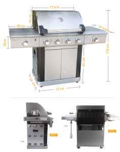Ce CSA Approval Gas Barbecue Grill with 2 Side Burner pictures & photos
