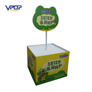 Recycle Paper Cardboard Promotion Dump Bins Display Stand