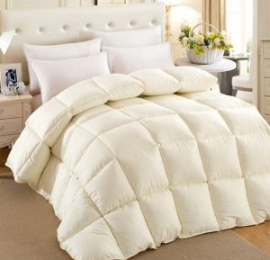 Silk Cover White Duck Down Duvet for Home