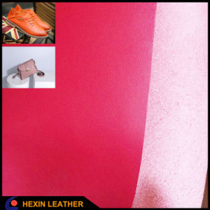 Synthetic Microfiber Leather Backing Color Same as Surface for Bags pictures & photos