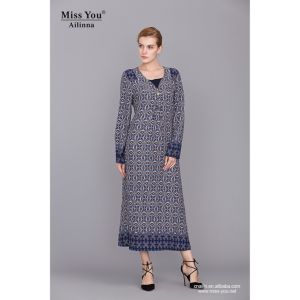 Miss You Ailinna 790211-1 Women Casual One Piece Maxi Muslim Dress pictures & photos