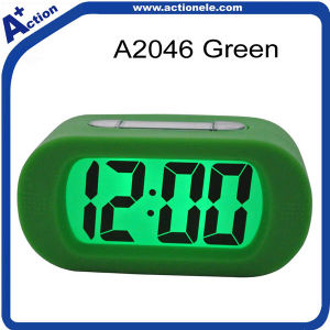 Digital Alarm Calendar Clock with Silicon Touch pictures & photos