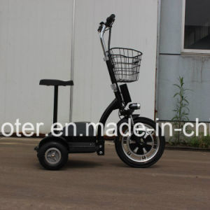 3-Wheel Electric Sightseeing Vehicle Mobility Electric Scooter 350W with Basket pictures & photos