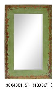 Competitive High Quality Wood Frame Decorative Bathroom Mirror