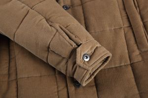 Manufacturer Men Corduroy and Shearling Fur Coat pictures & photos
